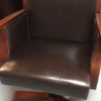swivel learher finish chair for sale