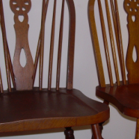 Two Windsor oak dining room chairs for sale.  R220 each