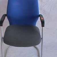 Visitor chair black and blue