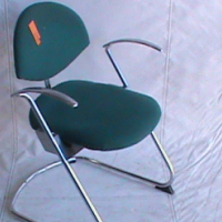 Visitor green chair