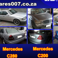 Mercedes C200, C220, C270 and C280 stripping for spares