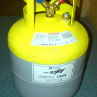 Refrigerant recovery cylinder. Large.