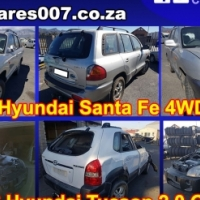 Hyundai Santa Fe and Tucson stripping for spares