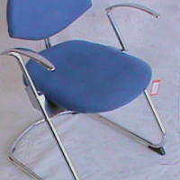 Visitor chair blue