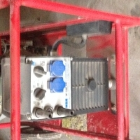 Generator with mounted welding plant