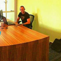 Office desk for teams,incl power holes
