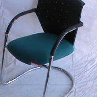 Visitor chair green/black