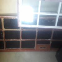 Garage aluminium window,2 steel Windows plus 1 steel door for sale