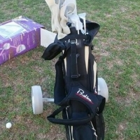 Ladies complete golf set with cart