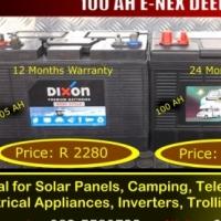 For Sale 100 AH E-Nex Deep Cycle Battery = R2150