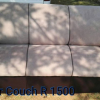 Brown suede 3 seater couch