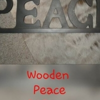 Wooden peace sign for sale