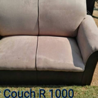 Suede brown 2 seater couch