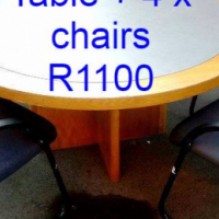 Office Table plus 4 chairs