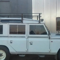 Land Rover series3s. Chev 4.1 straight six engine