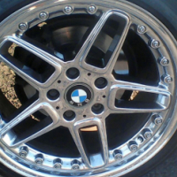 """18"""" AC Schnitzer rims 5/120 pcd and 225/40/18 tyres secondhand like new R8500."""