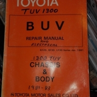 Toyota TUV 1300: repair manual