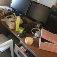 Large metal office desk