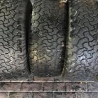 Bf Goodrich 265 65 17 x5 2 tyres Round 7mm rest around die 5 to 6mm