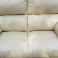 Two seater genuine leather couch