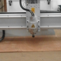PS 1318 Router Cutter. 3 KW Water Cooling Spindle Clamp Table