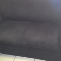(S) Black Suede Large 5-seater Lounge Suite_R 3500 neg.