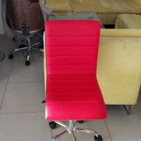 Red padded office chair for sale.