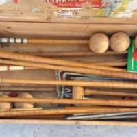 Vintage wooden Lawn Croquet set