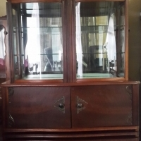 Antique ball and claw showcase for sale