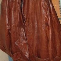 Designer fine Spanish leather full length winter wear coat