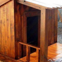 Wooden Dog Houses and bases
