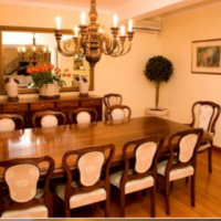 Mahogany 12 x Seater dinning room table & chairs with sideboard