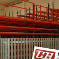Warehouse Multi-layer steel mezzanine shelfing with high capacity