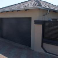Single and double aluzinc sectional doors in Midrand