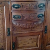 Antique Sideboard/Wall Unit