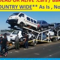 We buy Bakkies and cars Dead or alive