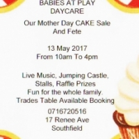 Babies at Play Daycare cake sale
