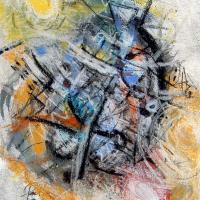 An extra ordinary modern work on canvas