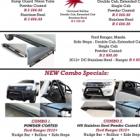 Ford Ranger & Hilux Nudge Bar, Rollbar, Side Steps & Cover Combo's
