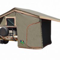 Howling moon classic and delux rooftop tent nose cone and tailgate patios