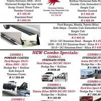 In house Specials Nudges, Steps, Towbar, Rollbars & Covers