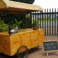 Wooden coffee /food cart