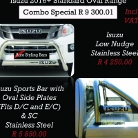 Isuzu Accessories from 2007.. Nudges, Covers, Towbars, Rollbars, Steps