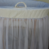 Baby wicker basket cot for sale