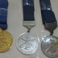Swart kruit skiet medaljes