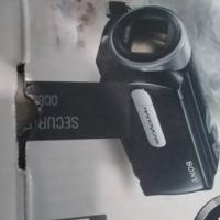 Sony handy cam with tripod.