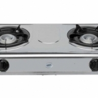 2 PLATE GAS BURNER WITH IGNITION