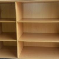 Beech wood open bookshelf