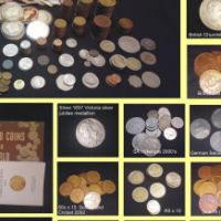 For the Coin Collector!  Antiques,Collectibles with Silver Hern's and Gold coin collector books