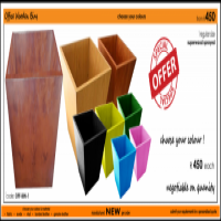 (S-o) NEW Wooden Office Bins_R400 each